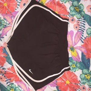 Black and white Nike Athletic Shorts
